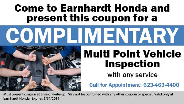 Free Multi Point Vehicle Inspection at Earnhardt Honda in Avondale