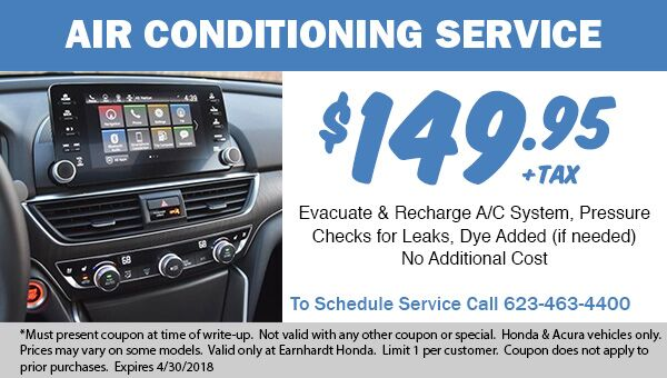 Air Conditioning Service at Earnhardt Honda in Avondale