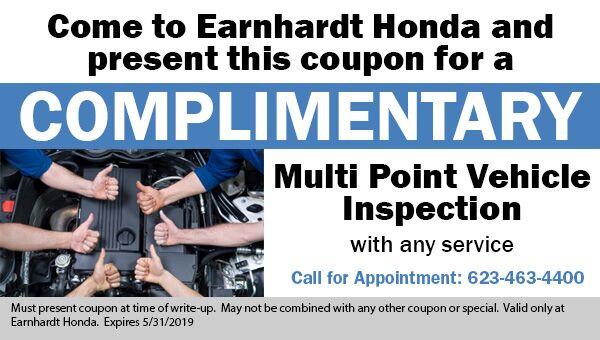 Free Multi Point Vehicle Inspection at Earnhardt Honda in Avondale