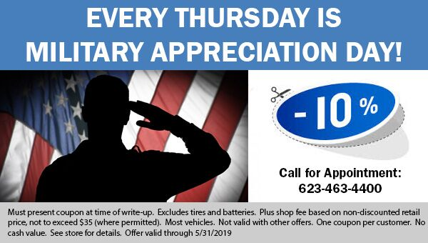 Military Discount available at Earnhardt Honda in Avondale