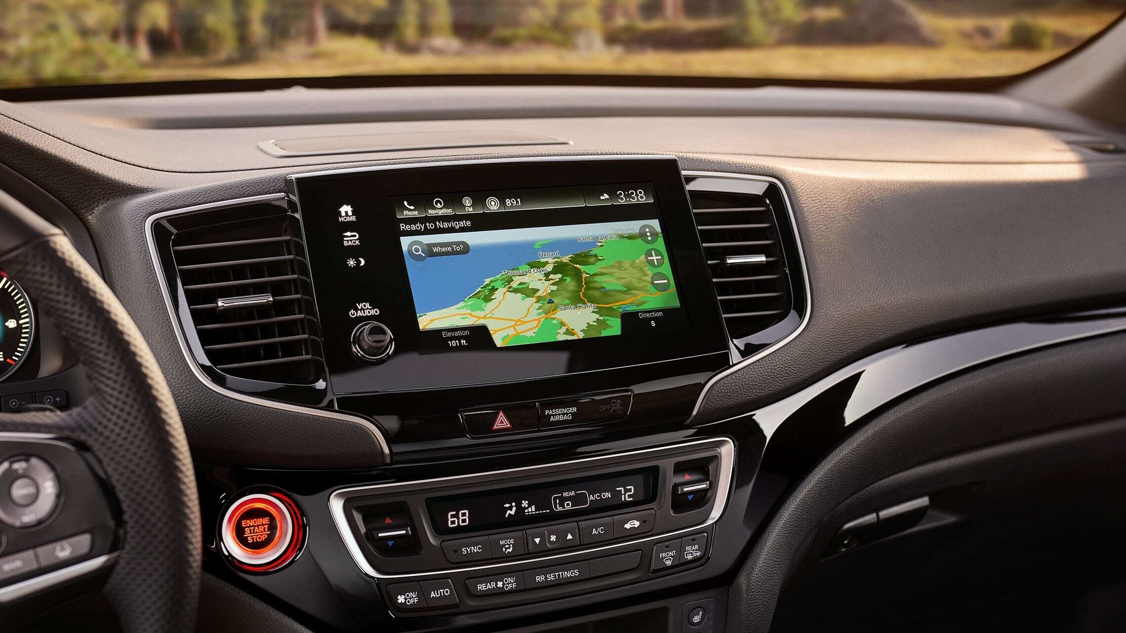 Honda Passport's Satellite-Linked Navigation