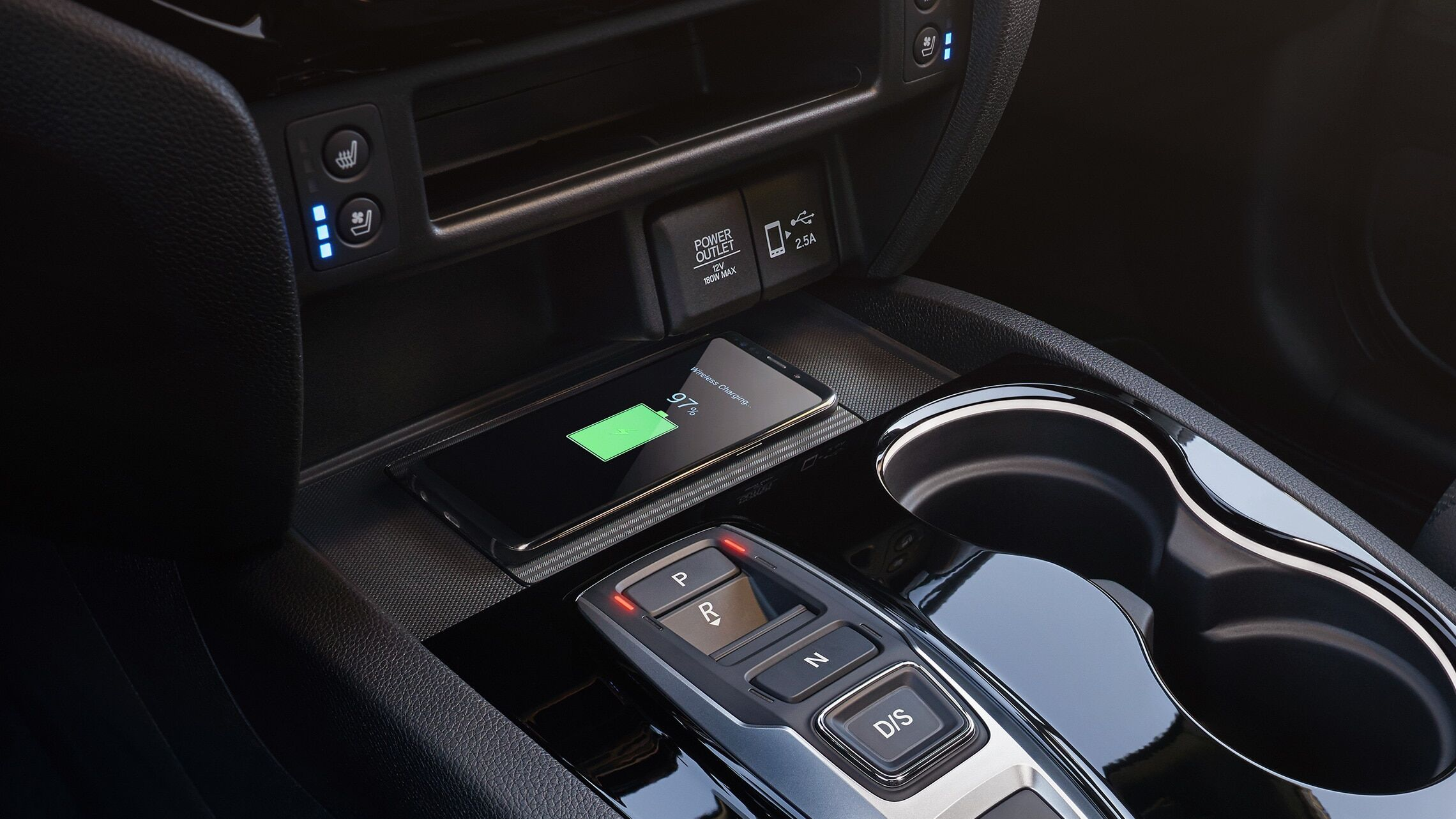 Honda Passport's wireless phone charger