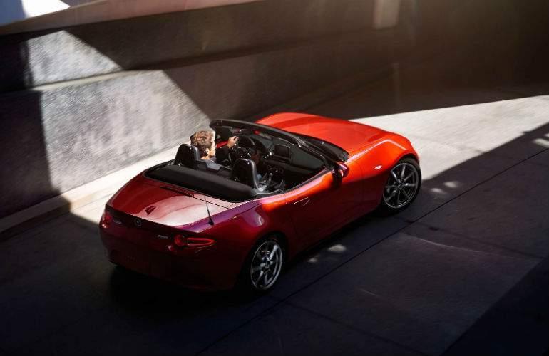 man driving a 2017 Mazda MX-5 Miata
