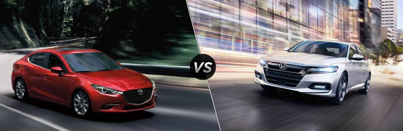2018 Mazda3 4-Door vs 2018 Honda Accord Sedan