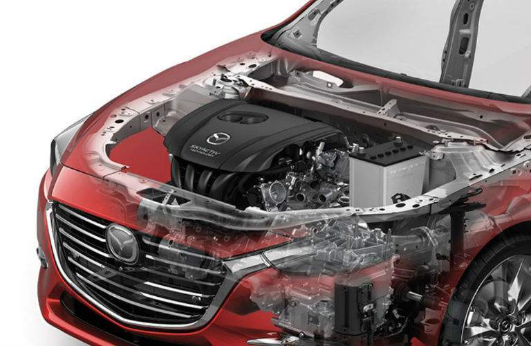 2018 Mazda3 5-Door engine view