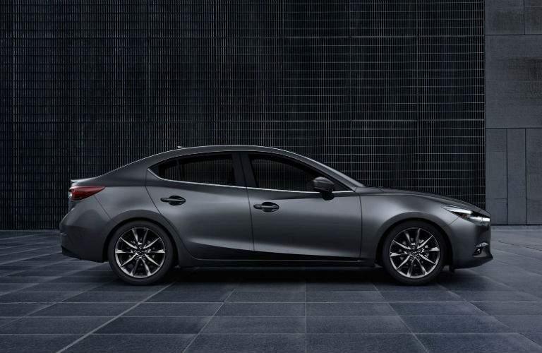 2018 Mazda3 4-Door profile in gray