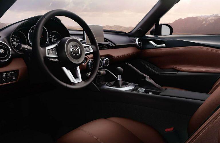 2018 Mazda MX-5 Miata front interior at driver's side angle
