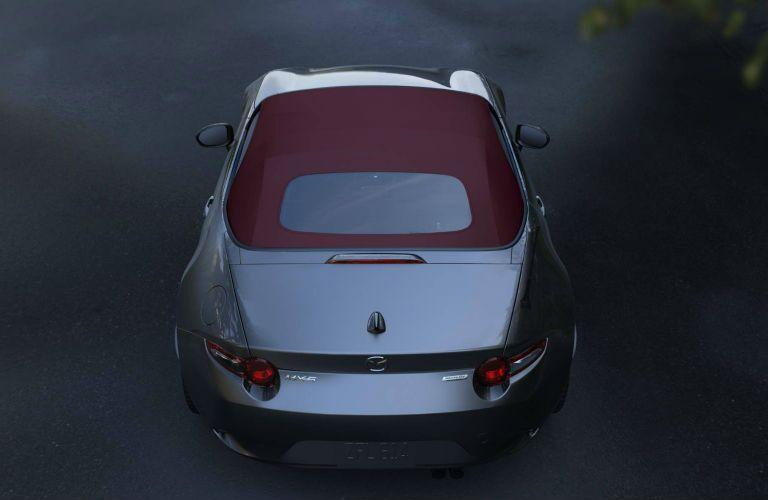 top view of a 2018 Mazda MX-5 Miata