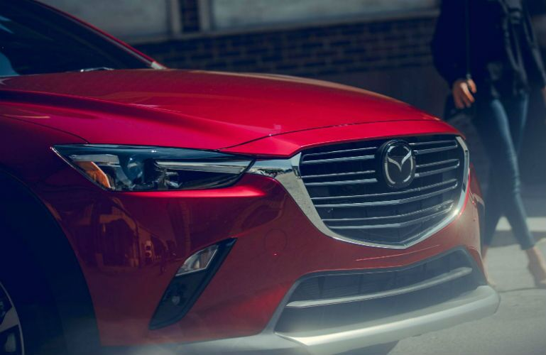 2019 Mazda CX-3 close-up on grille