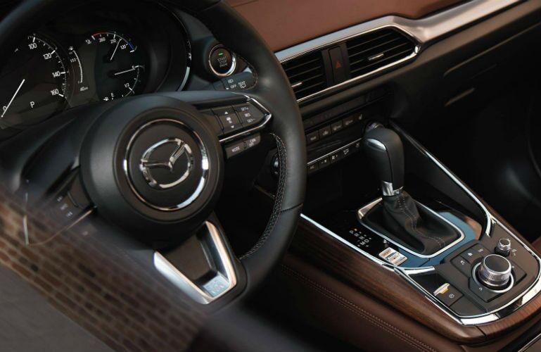 2019 Mazda CX-9 view of steering wheel from window