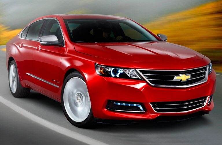 2014 Chevy Impala in red