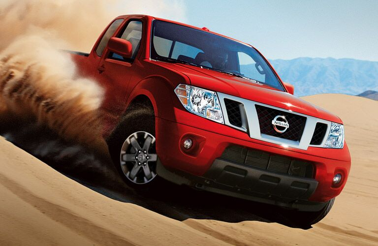 2016 Nissan Frontier in red