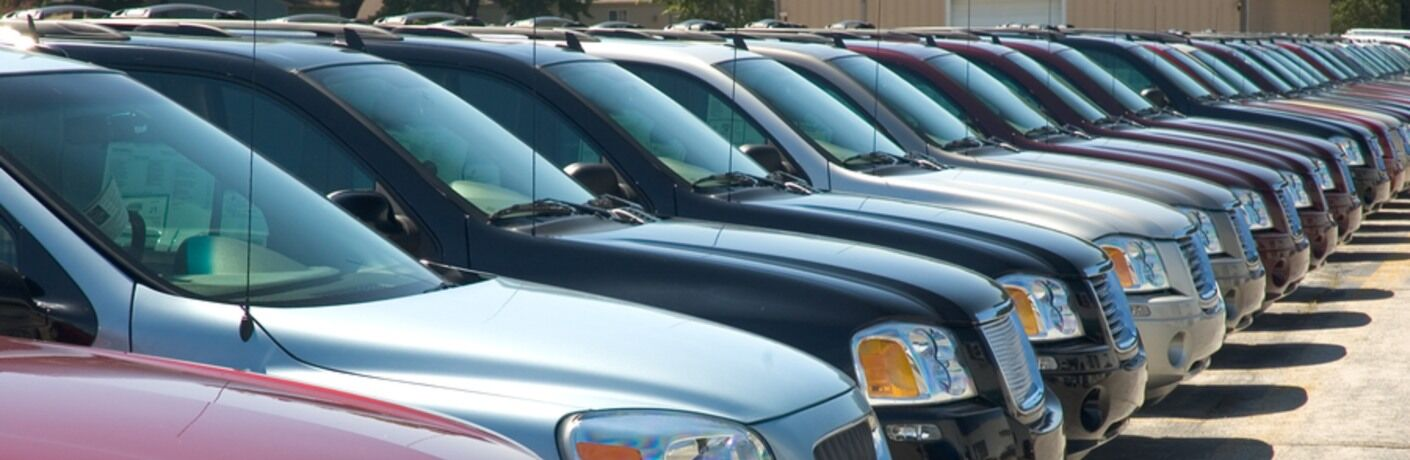 Line of Used SUVs Waiting to find a new home