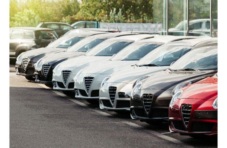 Random car lot or used sedans