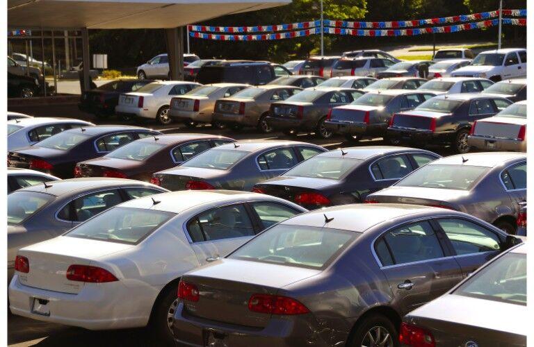 Large used car lot