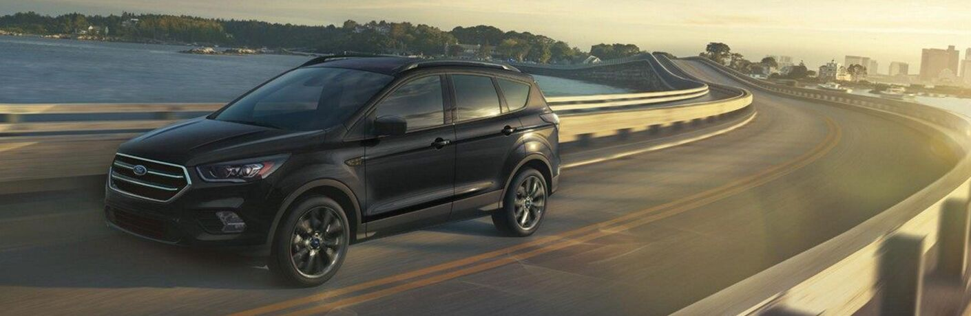 2019 Ford Escape driving on a bridge