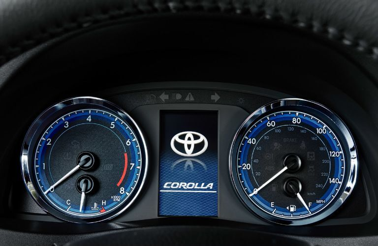 gauges and trip computer inside the 2019 Toyota Corolla