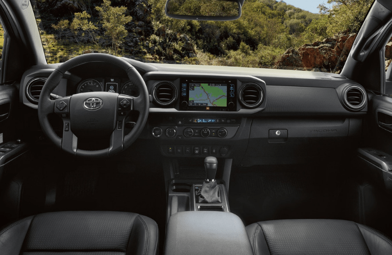 interior front of the 2019 Toyota Tacoma