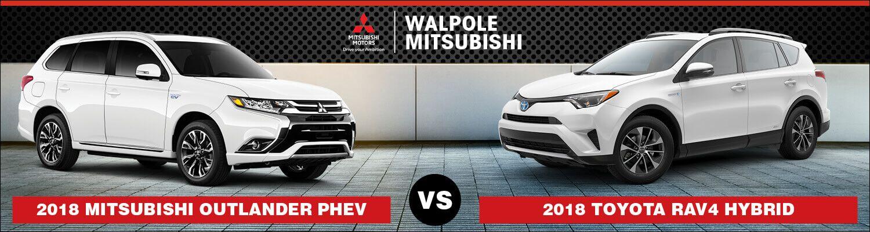 2018 Mitsubishi Outlander PHEV vs. 2018 Toyota RAV4 Hybrid