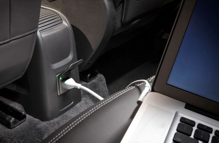 laptop plugged into a buick encore USB port
