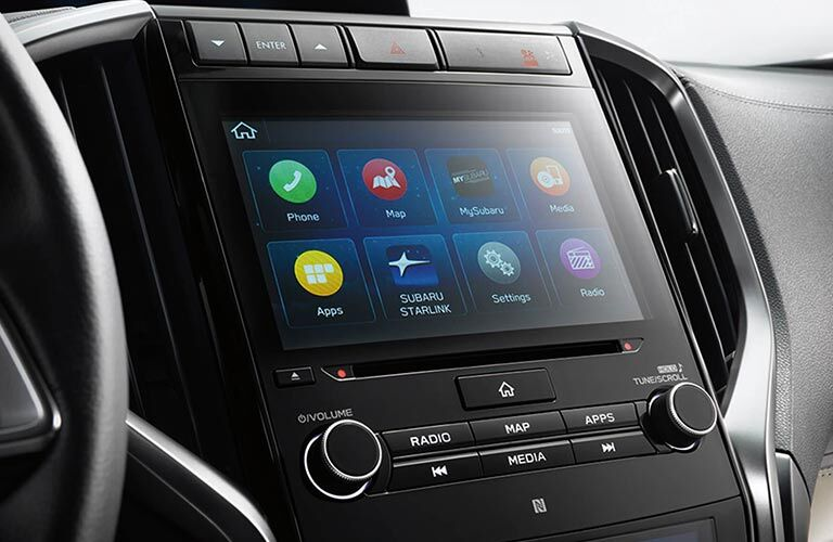 touch screen display in the Subaru Ascent dashboard