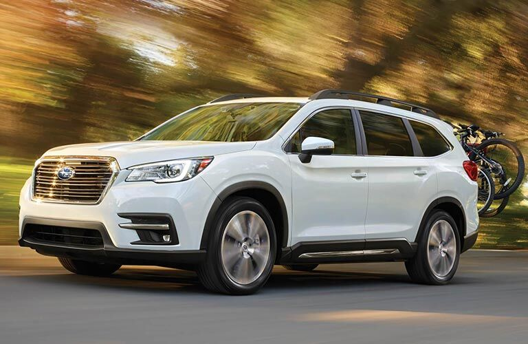 2019 Subaru Ascent Front View of White Exterior
