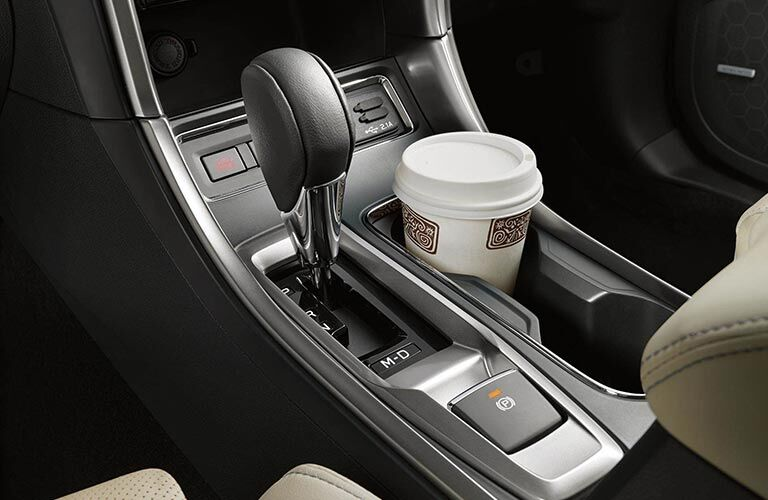2019 Subaru Ascent Gear Shift Knob and Coffee Cup in Cupholder