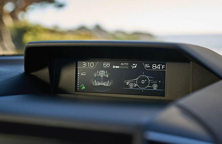 digital display with vehicle information inside the subaru crosstrek