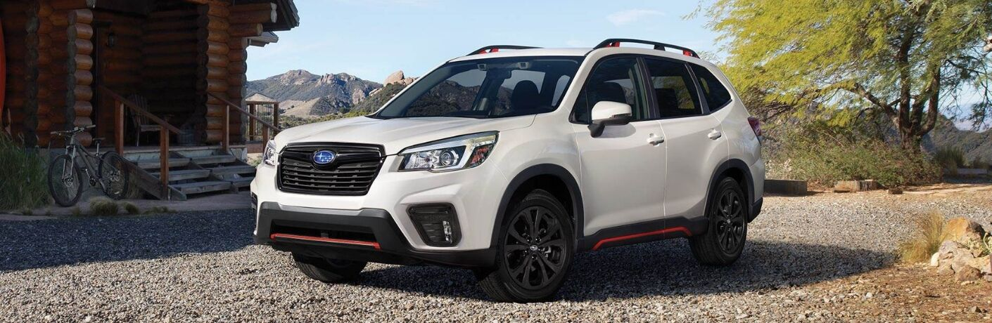 2019 Subaru Forester Front View of Green Exterior