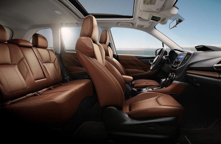 2019 Subaru Forester Side View of Saddle Brown Interior