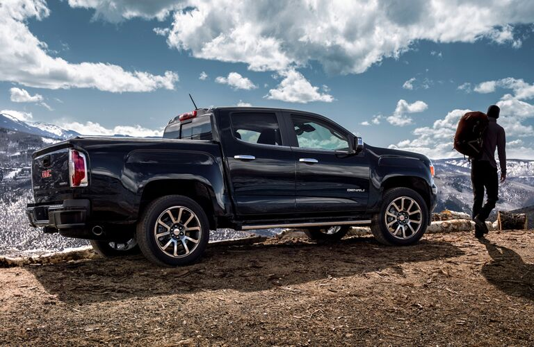 2020 GMC Canyon parked on a mountain