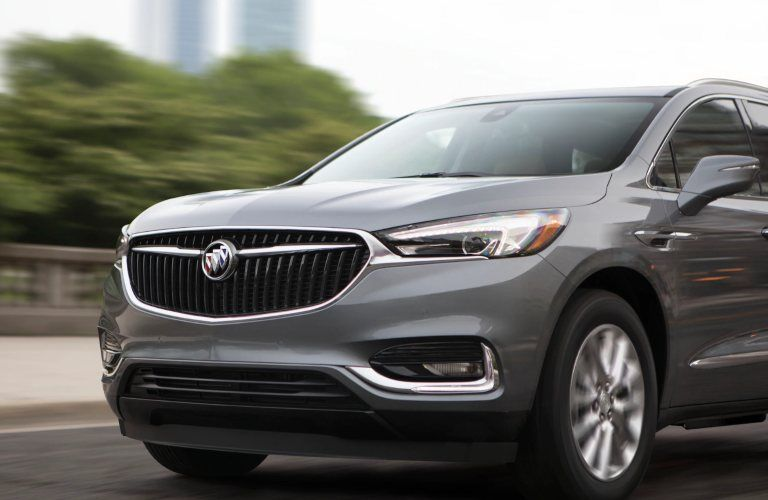 Close-up on the front end of the 2020 Buick Enclave