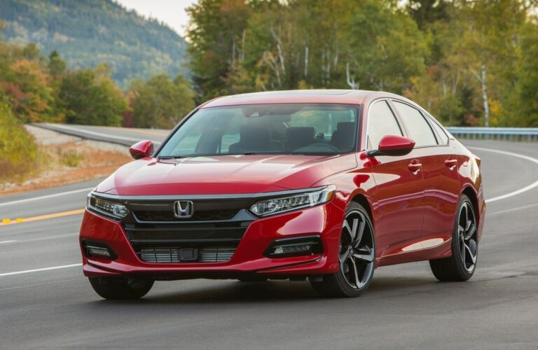 2018 Honda Accord red side view