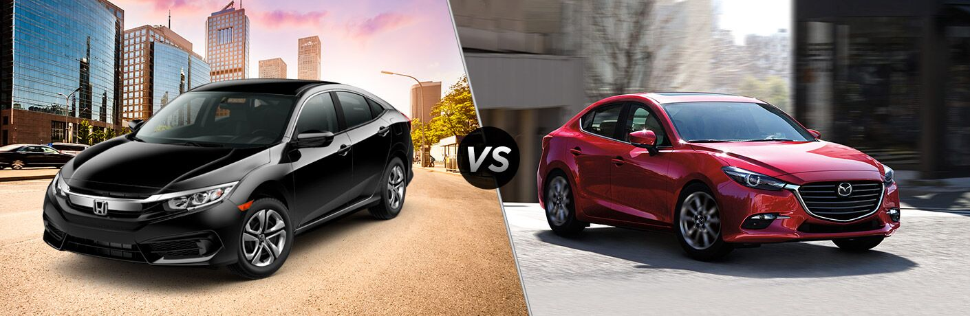 2018 Honda Civic vs 2018 Mazda3