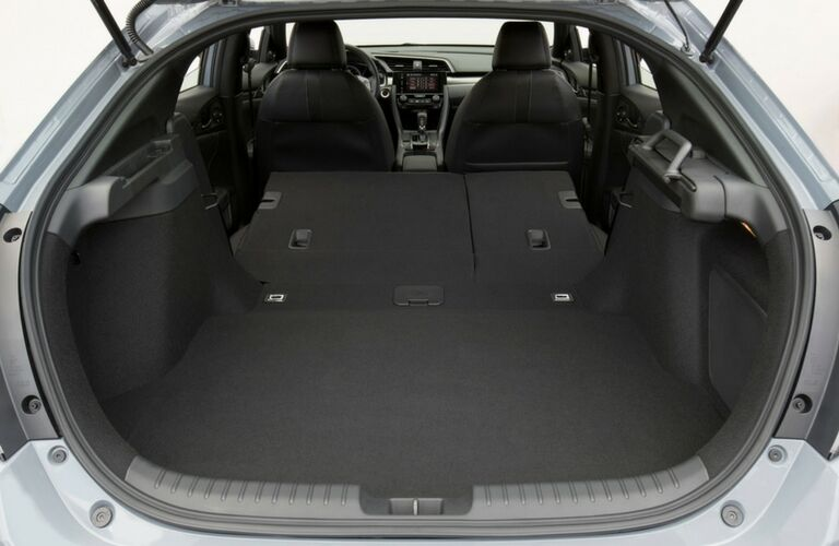 2018 Honda Civic Hatchback cargo area with rear seats down