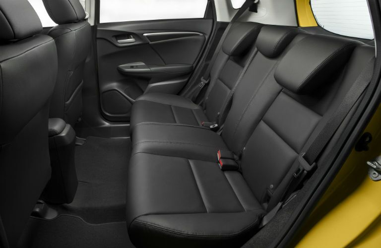back seat with black trim in 2018 Honda Fit