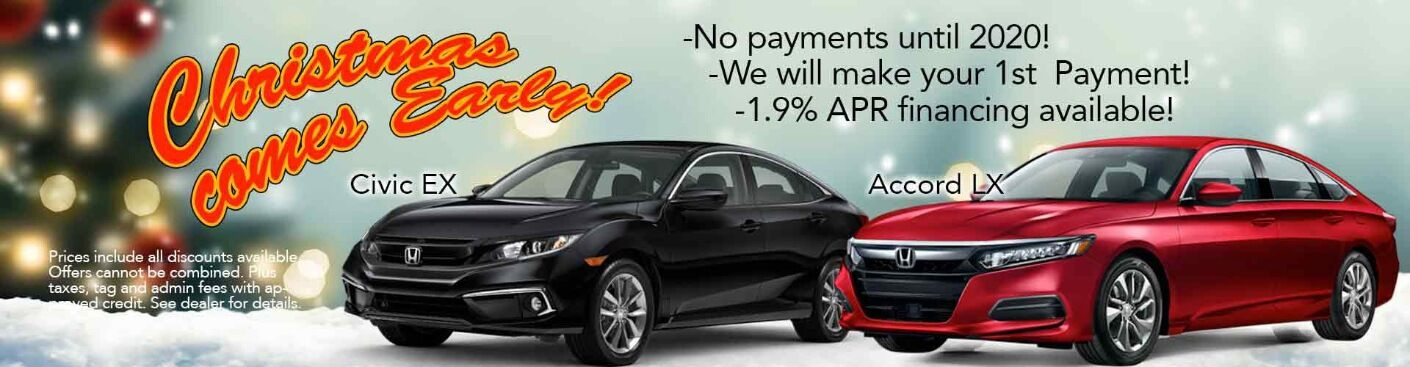 christmas comes early new honda offer banner