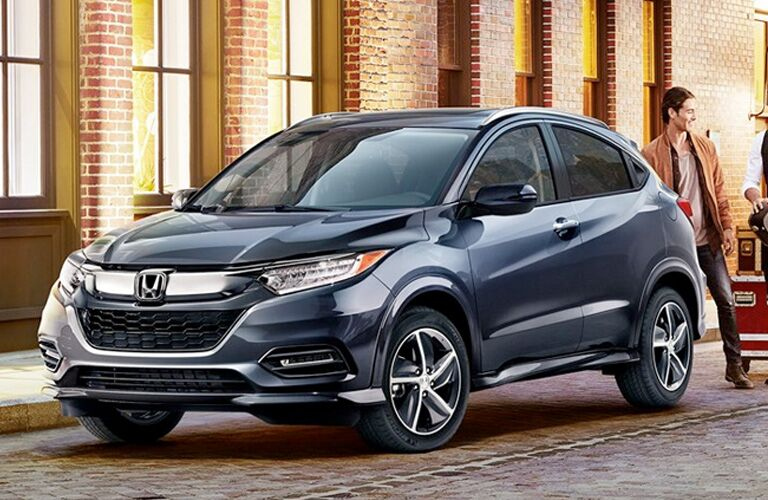 2019 Honda HR-V parked outside a brownstone building