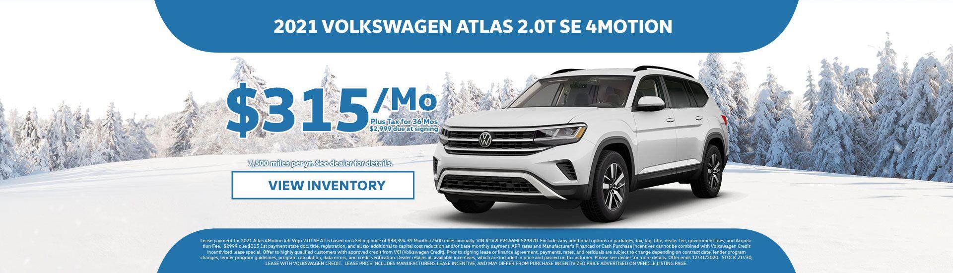 Volkswagen Atlas Lease