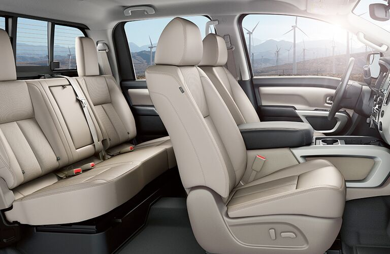 2018 Nissan Titan profile view of seating