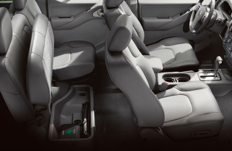 2018 Nissan Frontier view of seating and under seat storage