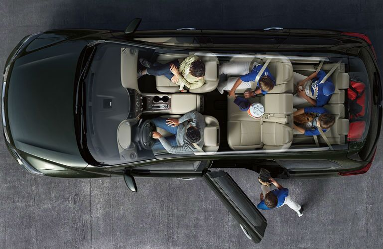 2018 Nissan Pathfinder aerial view of seating