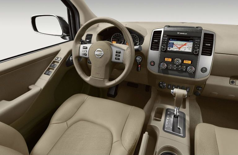 Steering wheel and dashboard in 2019 Nissan Frontier