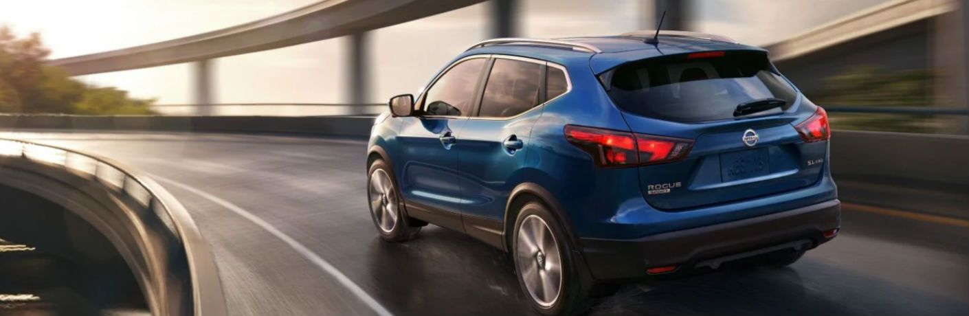 2019 Nissan Rogue Sport driving on a road