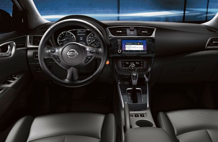 2019 Nissan Sentra dashboard and steering wheel