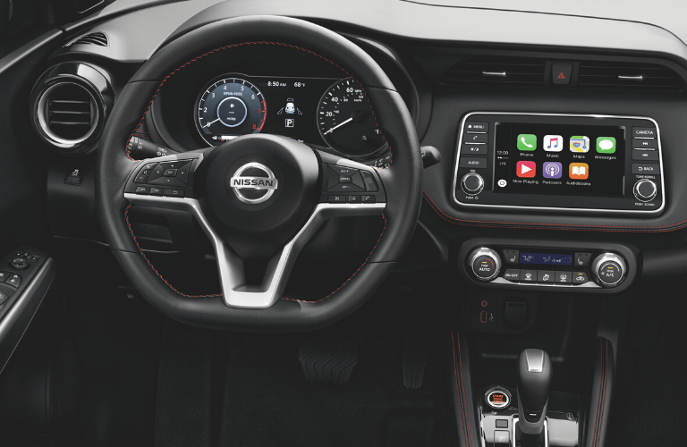 2020 Nissan Kicks dashboard, steering wheel and touchscreen