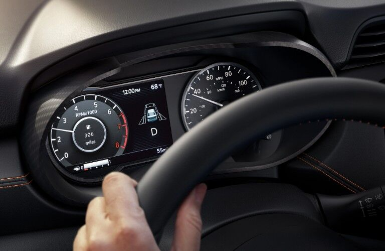 Close up of the Advanced Drive-Assist Display in the 2020 Nissan Versa sedan