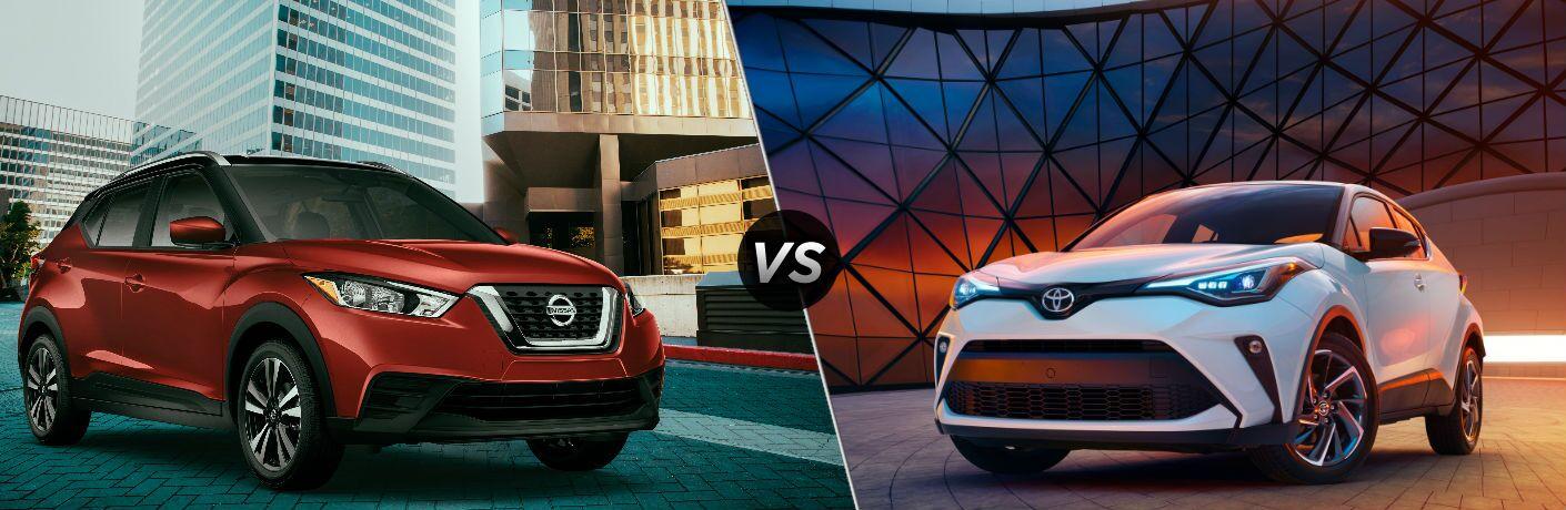 Red 2020 Nissan Kicks vs white 2020 Toyota C-HR