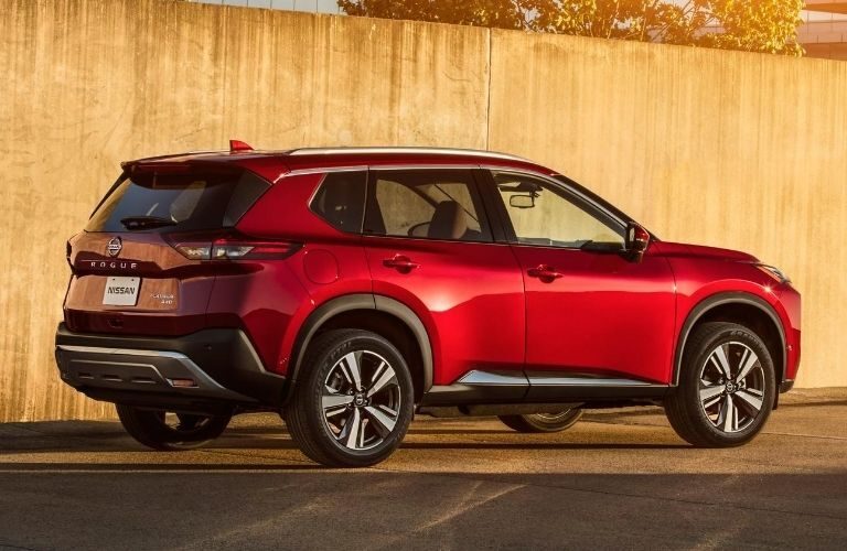 2021 Nissan Rogue exterior rear and passenger side
