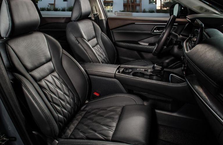 2021 Nissan Rogue front seating area